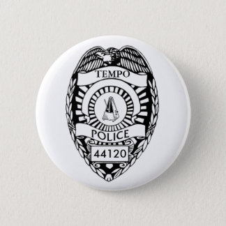 Halt! Tempo-Polizei! Runder Button 5,7 Cm