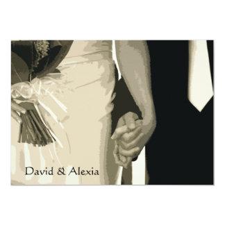 Halten der Handposten-Hochzeits-Brunch-Einladung 12,7 X 17,8 Cm Einladungskarte
