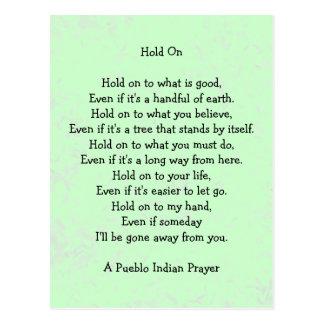 halten Sie auf Gebet Postkarte