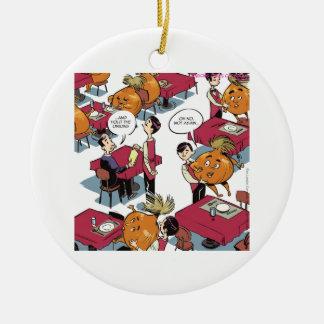 Halten Sie die Zwiebeln gefallen lustigen Keramik Ornament