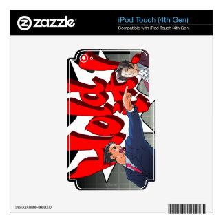 Halten Sie es! Phoenix Wright u. Meilen Edgeworth iPod Touch 4G Skin