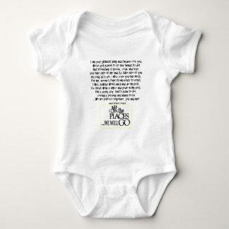 Halten Sie Hund instand, den Gedicht FNL ZURÜCK Baby Strampler