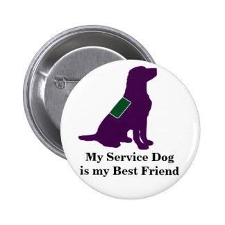 Halten Sie Hund instand Runder Button 5,1 Cm