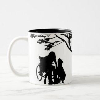 Halten Sie HundeLiebe-Tasse instand Zweifarbige Tasse