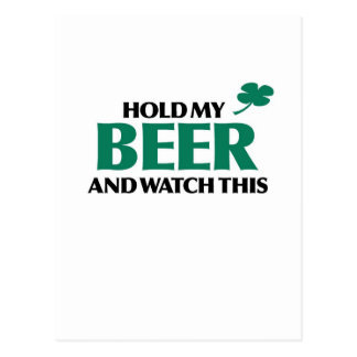 Halten Sie mein Bier (Iren 3,0) Postkarte