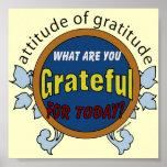Haltung des Dankbarkeits-Plakats Posterdrucke