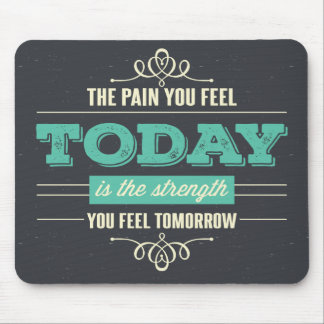 Haltung, Erfolg, Träume, motivierend Zitat-Grau Mousepads