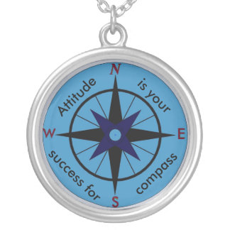 Haltung ist Ihr Kompass für Erfolgshalskette Halskette Mit Rundem Anhänger