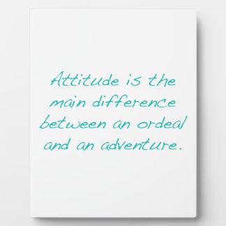Haltung -- Zerreißprobe oder Abenteuer (Grün) Fotoplatte