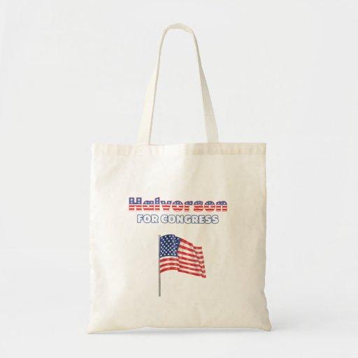 Halvorson für Kongress-patriotische amerikanische  Leinentaschen