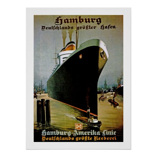 Hamburg-Amerika Linie Poster