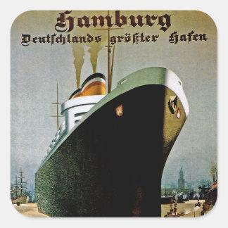 Hamburg-Amerika Linie Quadrat-Aufkleber