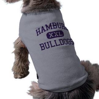 Hamburg - Bulldoggen - hoch - Hamburg New York T-Shirt