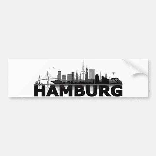 Hamburg City Skyline Autoaufkleber / Aufkleber