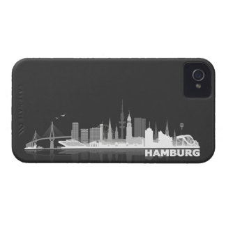 Hamburg City Skyline Blackberry Schutzhülle Case-Mate iPhone 4 Hülle