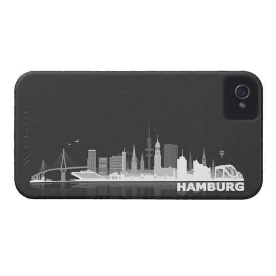 Hamburg City Skyline Blackberry Schutzhülle Case-Mate iPhone 4 Hülle