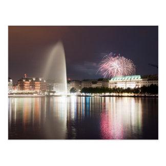 Hamburg-Feuerwerke Postkarte