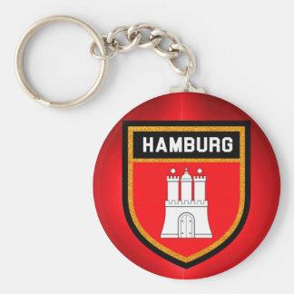 Hamburg-Flagge Schlüsselanhänger