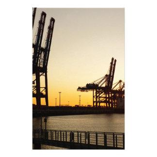Hamburg-Hafen Büropapier