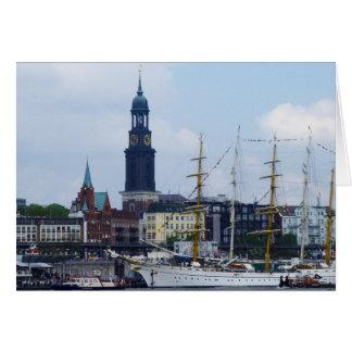 Hamburg-Hafen Hafen Michel Deutschland Schiffe Karte