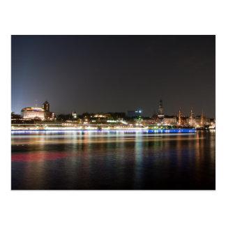 Hamburg-Hafen nachts Postkarte