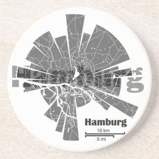 Hamburg-Karte Untersetzer