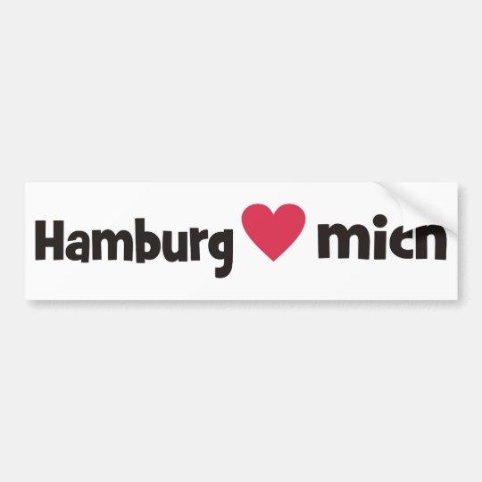Hamburg liebt mich autoaufkleber