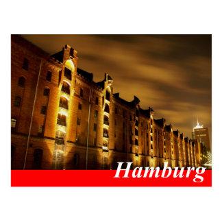 Hamburg Postkarte - Speicherstadt