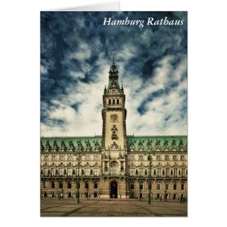 Hamburg Rathaus, Deutschland Karte