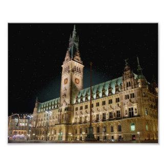 Hamburg Rathaus Fotodruck