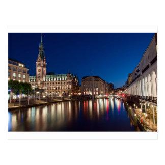 Hamburg-Rathaus Postkarte