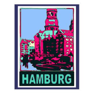 Hamburg-Reise-Plakat Postkarten