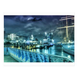 Hamburg Sankt Pauli landungsbrücken Postkarte