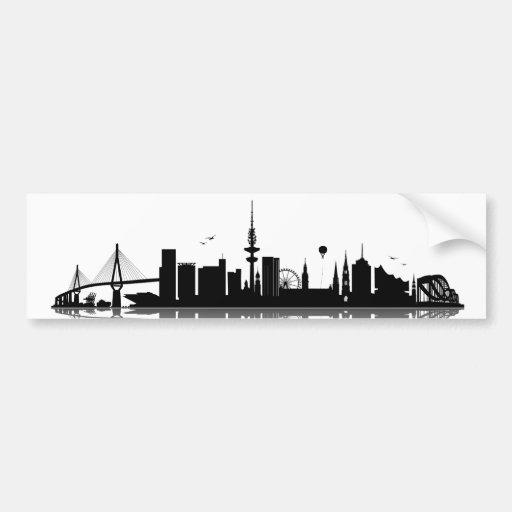 Hamburg Skyline Aufkleber Autoaufkleber