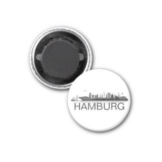 Hamburg Skyline Kühlschrank Magnet Runder Magnet 2,5 Cm