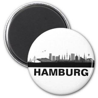 Hamburg Skyline Kühlschrank Magnet Runder Magnet 5,7 Cm