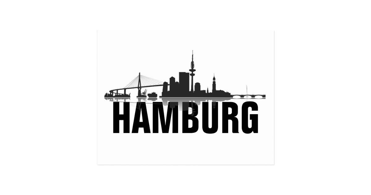 hamburg skyline postkarte gru karte zazzle. Black Bedroom Furniture Sets. Home Design Ideas