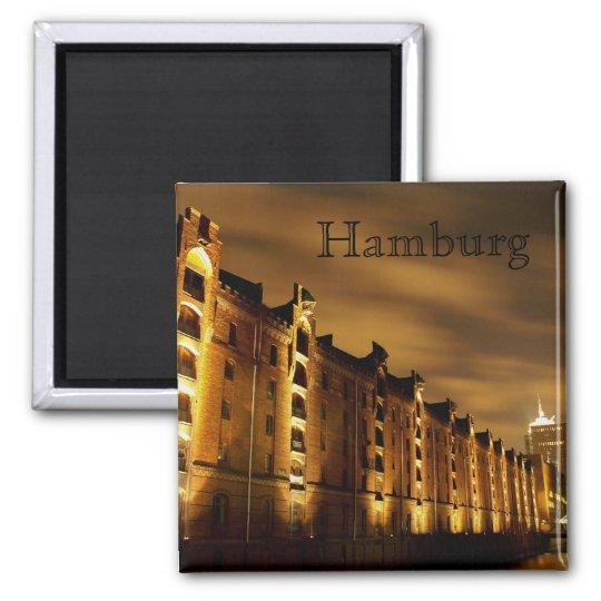 Hamburg - Speicherstadt bei Nacht - Magnet