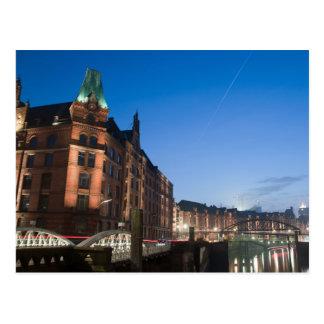 Hamburg Speicherstadt nachts Postkarten