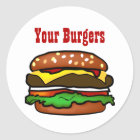 Hamburger-Aufkleber Runder Aufkleber