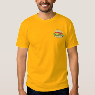 Hamburger Besticktes T-Shirt