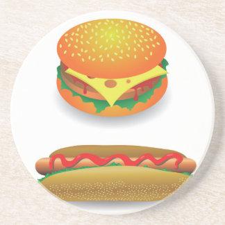Hamburger Getränkeuntersetzer
