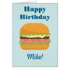 Hamburger-Illustrations-alles Gute zum Geburtstag Karte