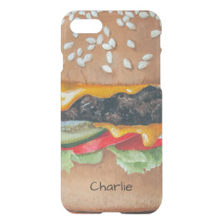 Hamburger-Illustrations-Name-Telefon-Hüllen iPhone 8/7 Hülle