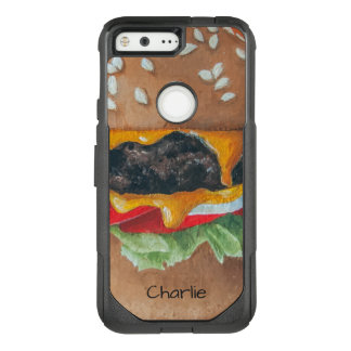 Hamburger-Illustrations-Name-Telefon-Hüllen OtterBox Commuter Google Pixel Hülle