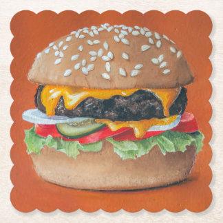 Hamburger-Illustrationspapier-Untersetzer Untersetzer