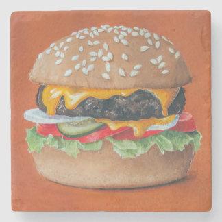 Hamburger-Illustrationsstein-Untersetzer Steinuntersetzer