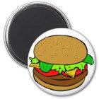 Hamburger-Magnet Runder Magnet 5,7 Cm