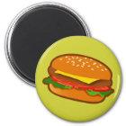 Hamburger Runder Magnet 5,1 Cm