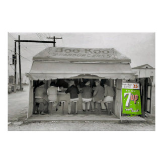 Hamburger-Stand-Kunst, addieren Text Poster